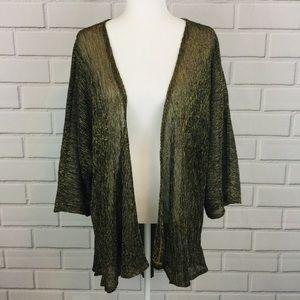 LuLaRoe Lindsay Textured Sheer Metallic Kimono